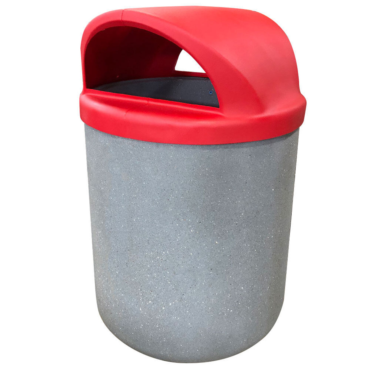 42 Gallon Concrete 2 Way Open Dome Top Outdoor Waste Container TF1165 Acid Wash