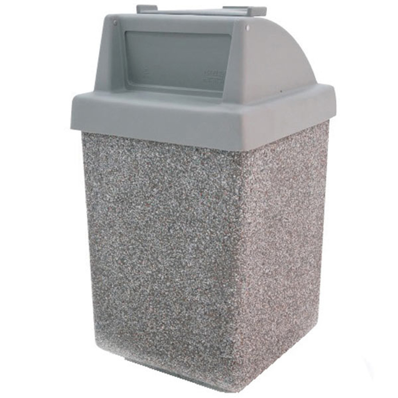 53 Gallon Restaurant Trash Can with Tray Holder TF1035 Exposed
