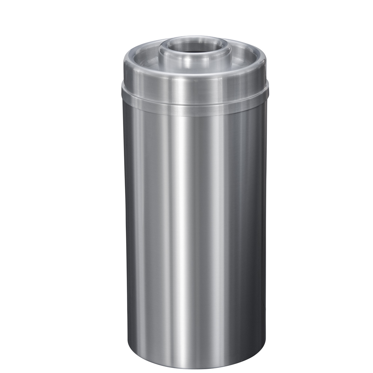 New Yorker 16 Gallon D1533SA Donut Top Ash Trash Receptacle w/Plastic Liner