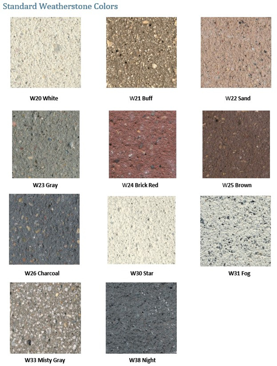 Weatherstone Colors