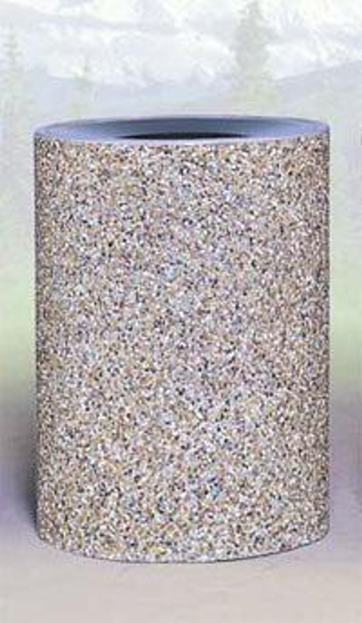 41 Gallon Concrete Funnel Top Outdoor Waste Container TF1151 Exposed Aggregate