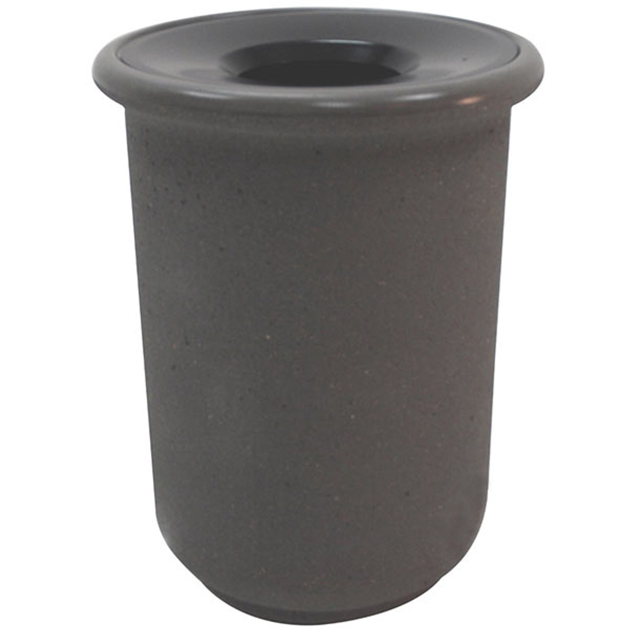 25 Gallon Concrete Funnel Top Outdoor Waste Container TF1105 Weatherstone Charcoal