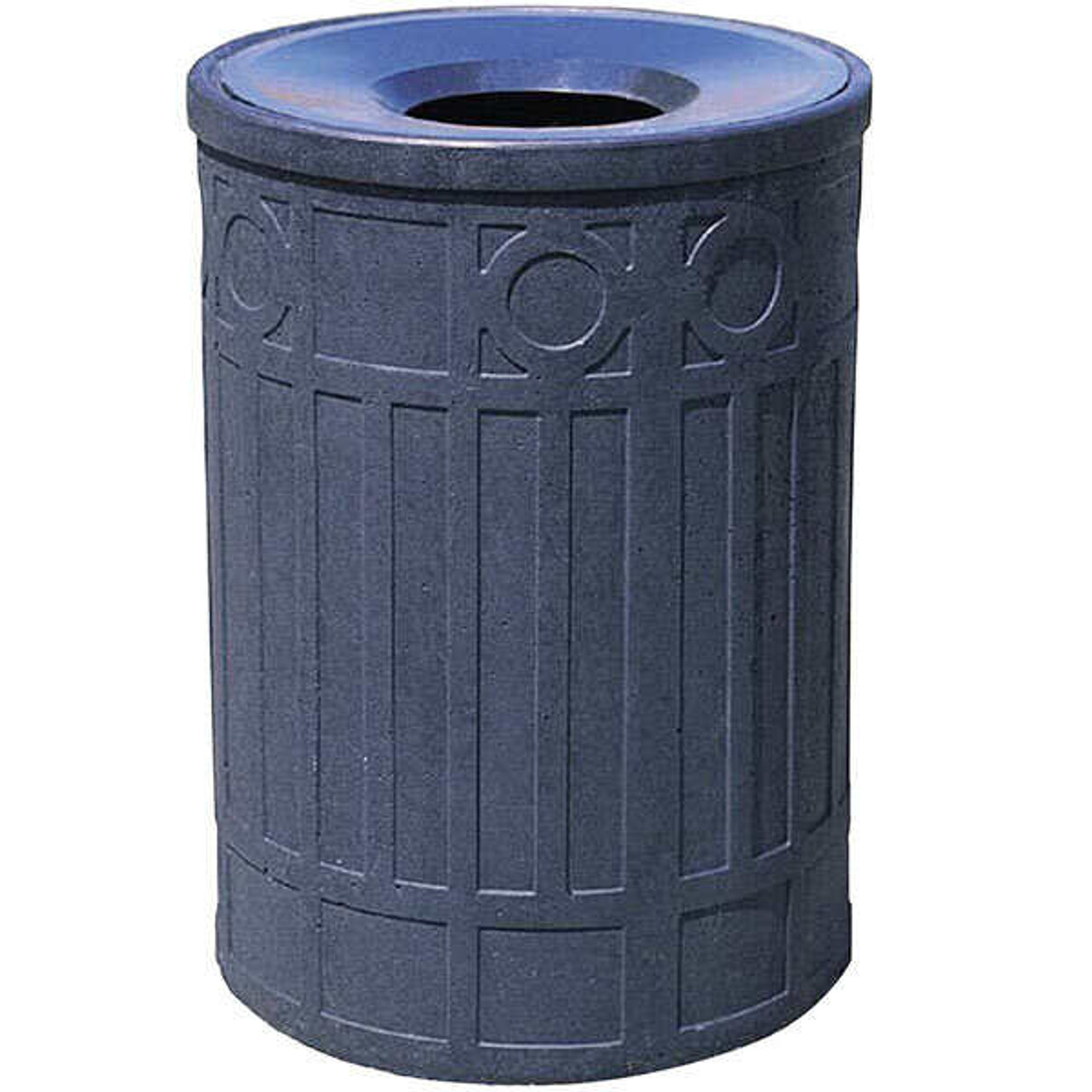 41 Gallon Concrete Funnel Top Outdoor Waste Container WS1041