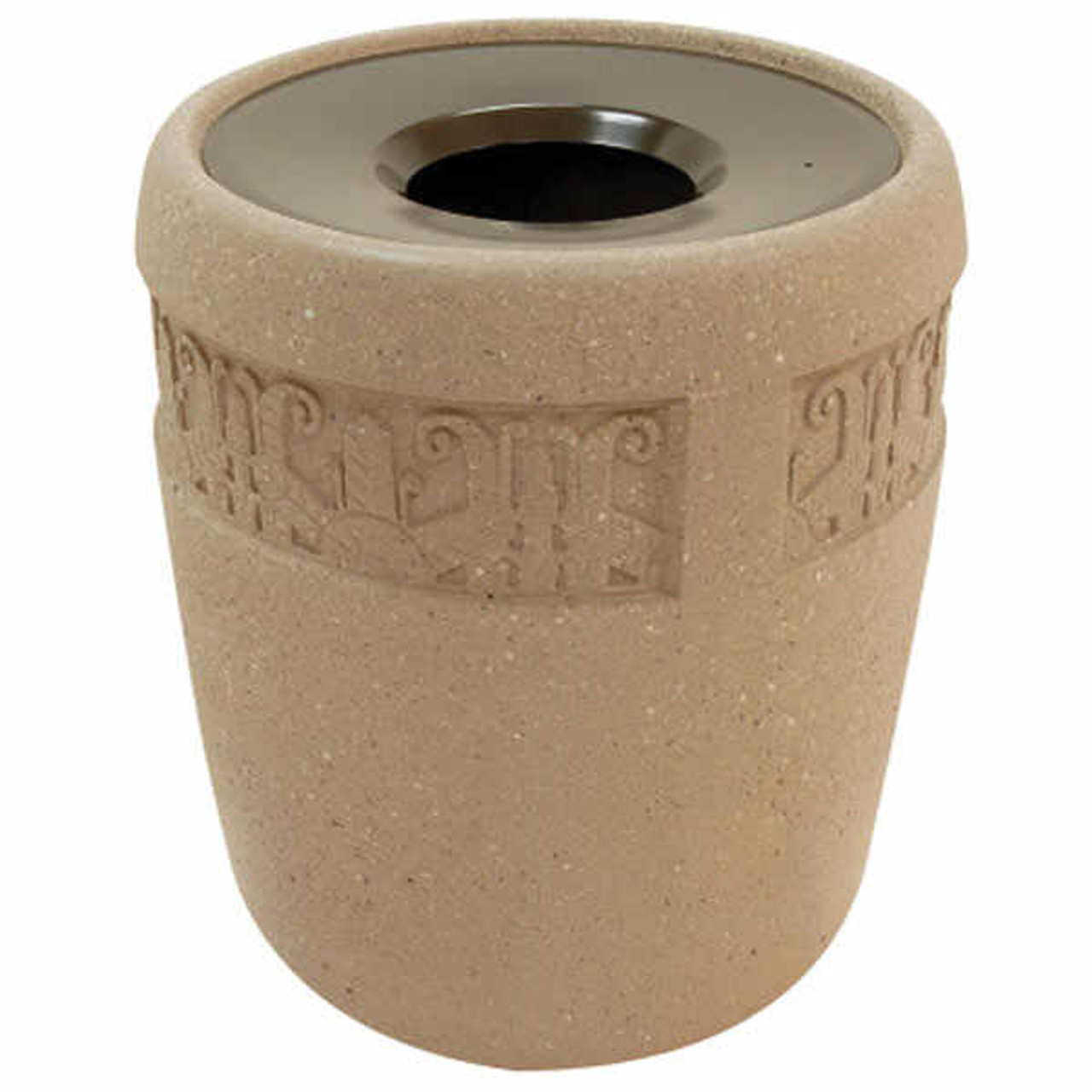 31 Gallon Concrete Funnel Top Outdoor Waste Container TF1185