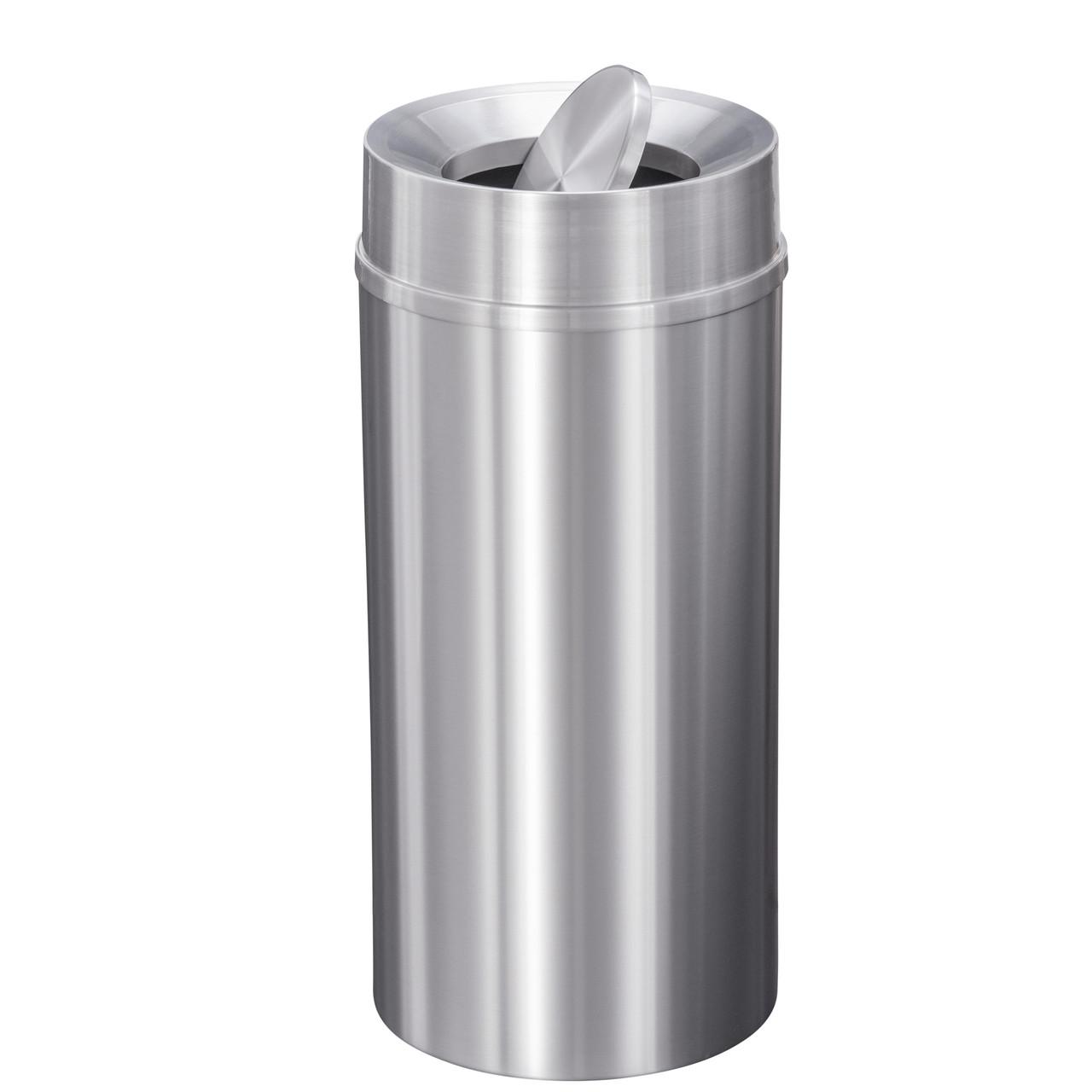New Yorker 16 Gallon TA1533SA Tip Action Trash Receptacle w/Plastic Liner