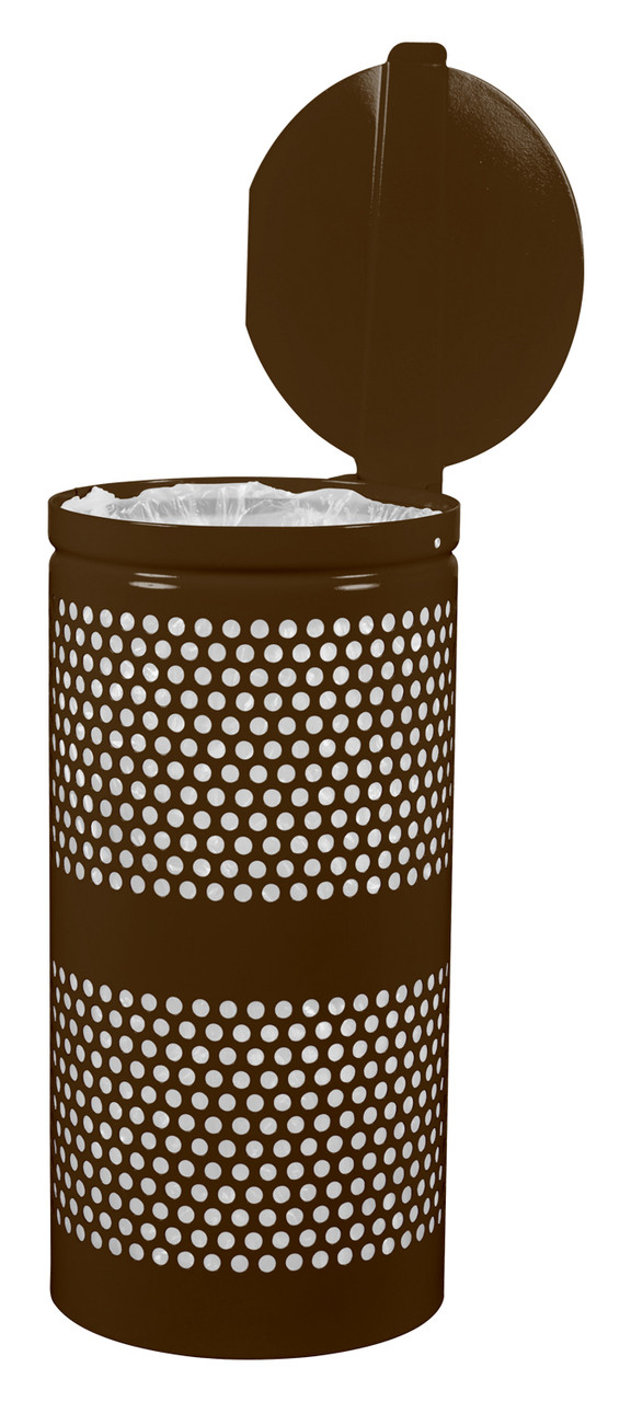 Perforated Trash Can in Coffee Gloss