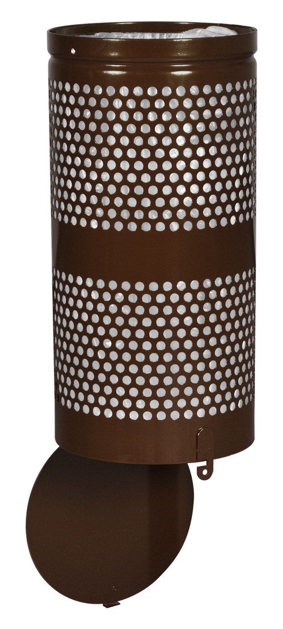 Excell Landscape Outdoor Drop Bottom Trash Can WR690 in Coffee Gloss