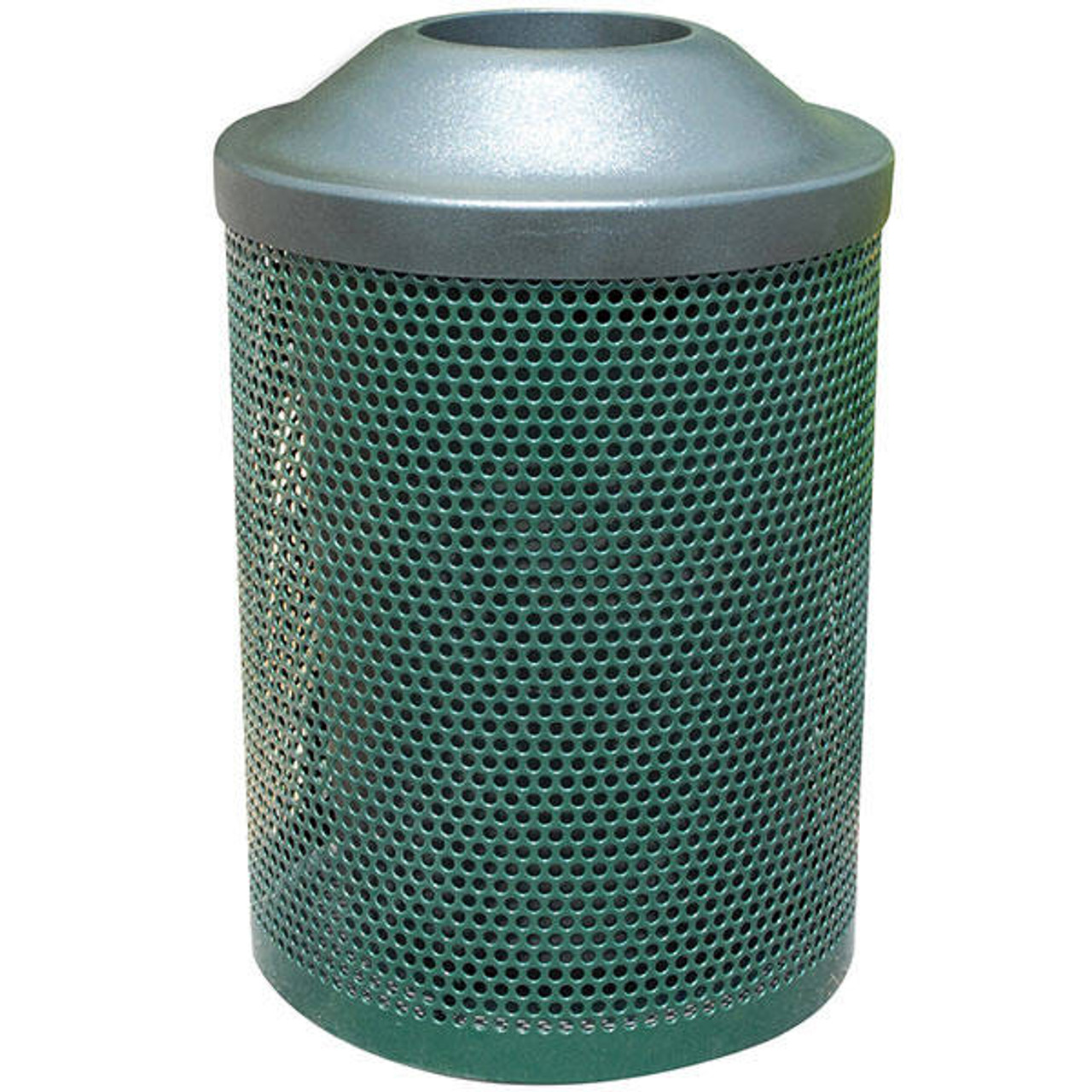 30 Gallon Metal Armor Pitch In Lid Outdoor Waste Container MF3008