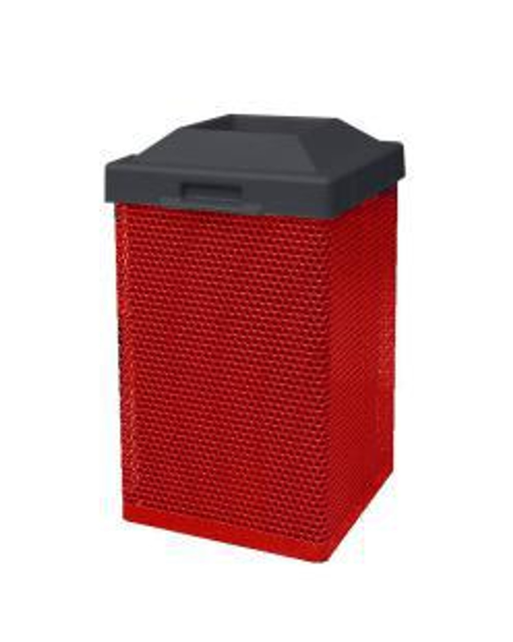 38 Gallon Indoor Pitch In Lid Waste Can MF3051 2-Red
