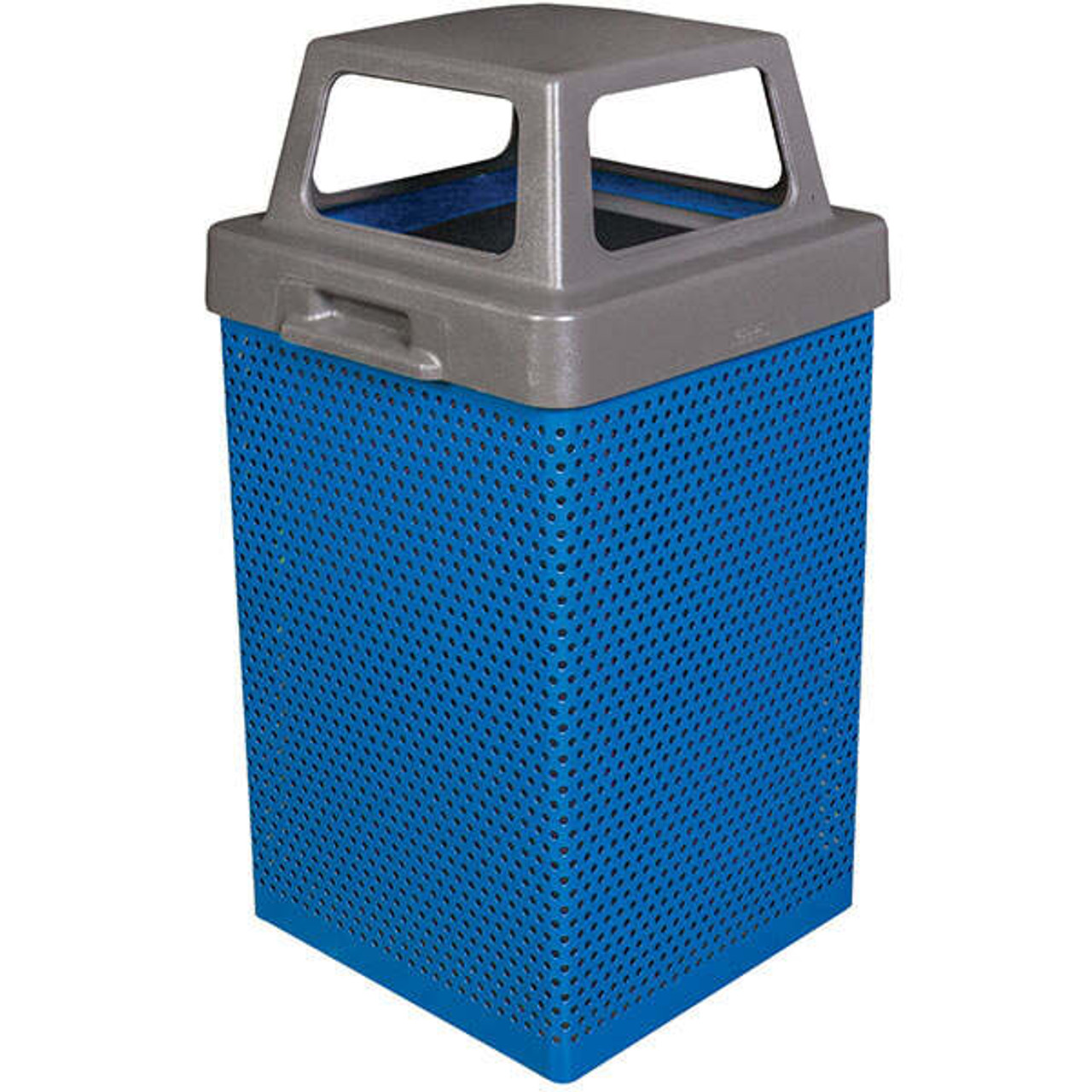 38 Gallon Metal Armor Outdoor Waste Container MF3053