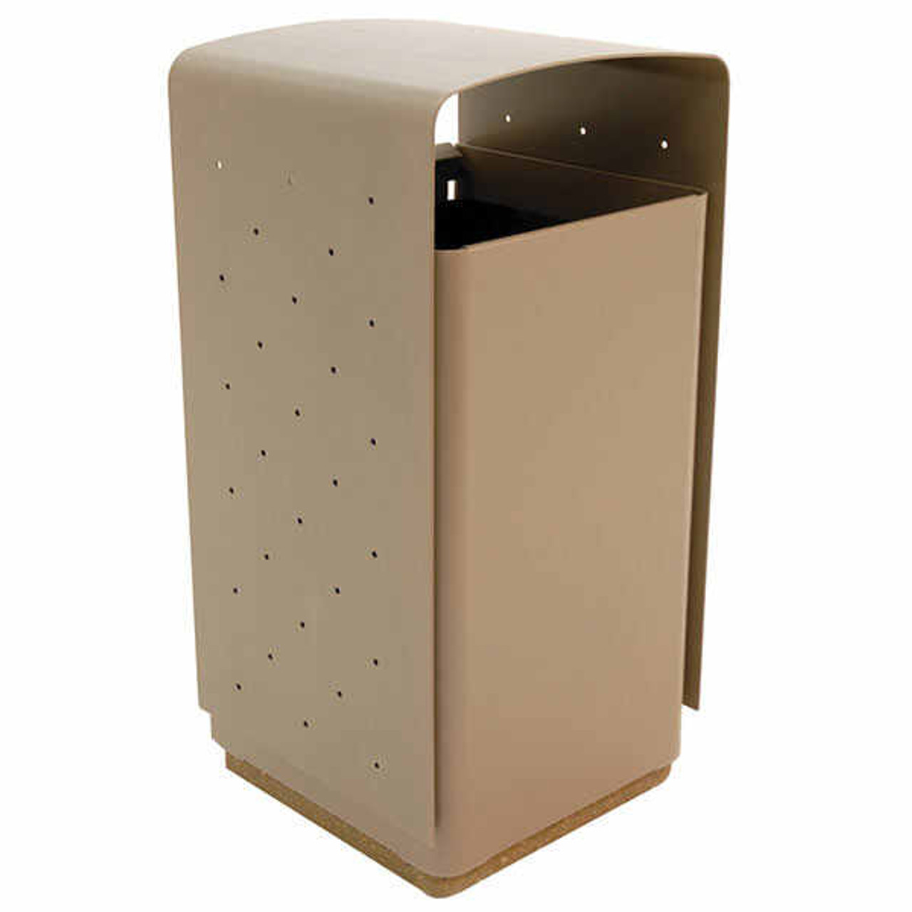 45 Gallon Metal Indoor Outdoor Trash Can with Concrete Base EB5104