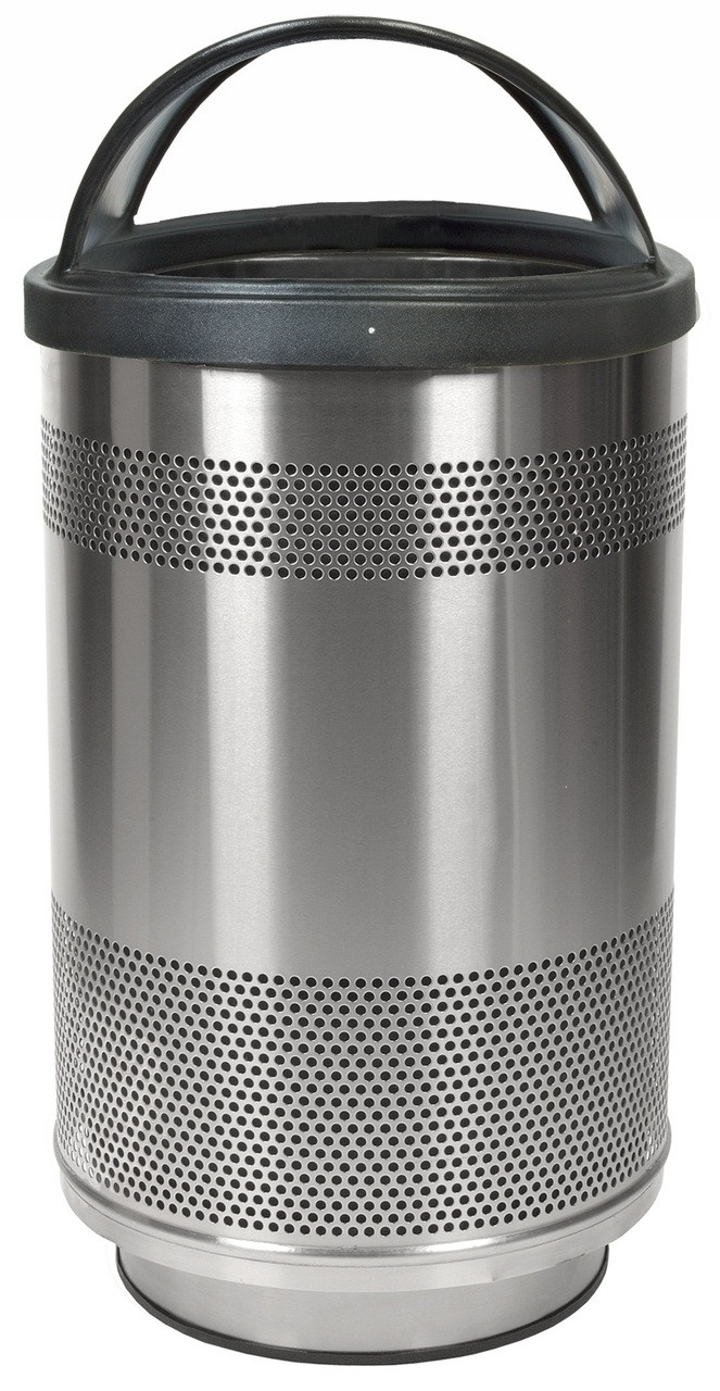 Stadium Series 55 Gallon Stainless Steel Trash Container Hood Top