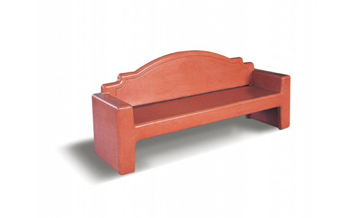 7 Foot Outdoor Concrete Park Bench with Back TF5065