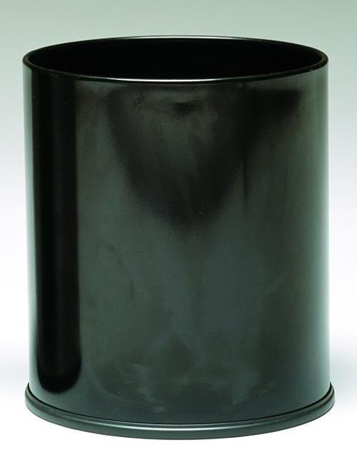 Witt Monarch Series 4 Gallon Round Metal Wastebasket Black