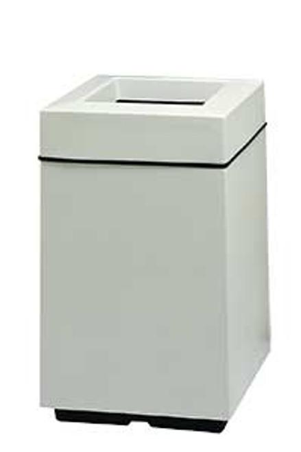 25 Gallon Top Entry Square Fiberglass Waste Can 7S2032T