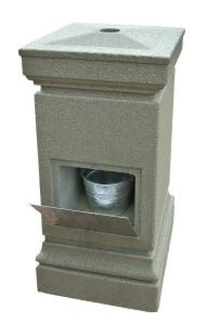 Concrete Smokeless Outdoor Ashtray Smokers Receptacle WS2037 Weatherstone