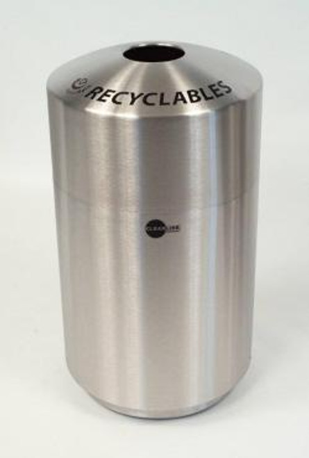 Cleanline 39 Gallon Stainless Steel Top Load Trash Can for Recyclables
