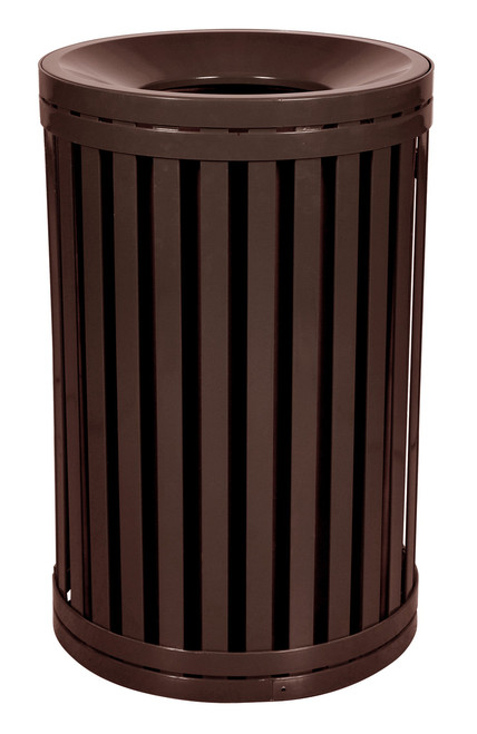 Hampton 45 Gallon Outdoor Side Gate Or Top Opening Trash Can Brown