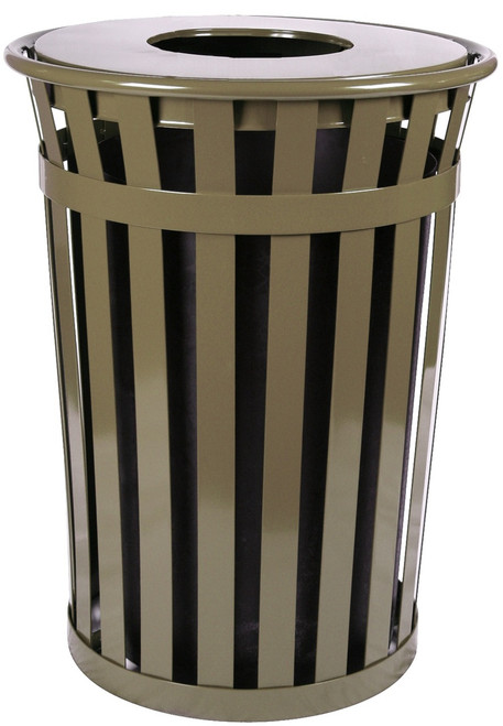 36 Gallon Oakley M3601-FT-BN Outdoor Waste Receptacle Brown