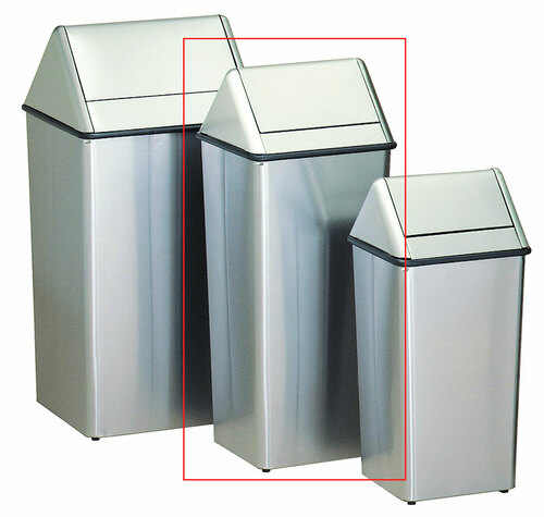 Metal Stainless Steel 21 Gallon Swing Top Waste Receptacle 1411HTSS