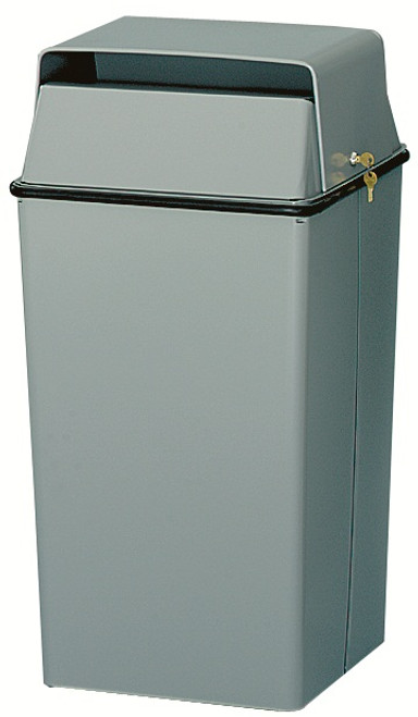 36 Gallon HIPAA Metal Locking Original Series 008 Document Container Slate Gray