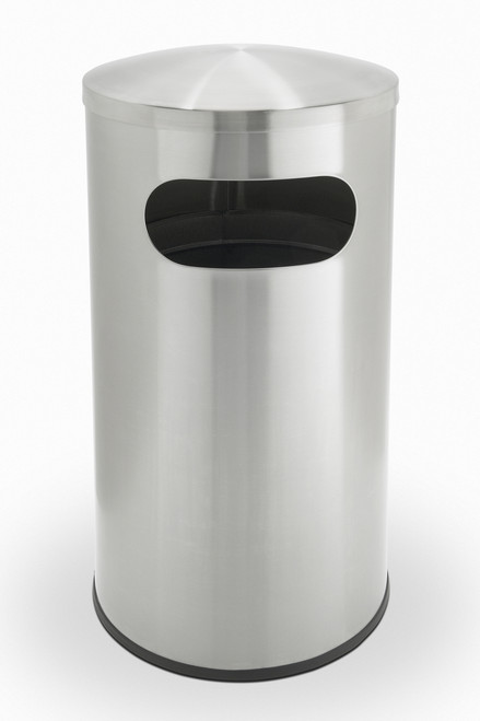 15 Gallon Allure Stainless Steel Side Entry Trash Can Precision Series 780329