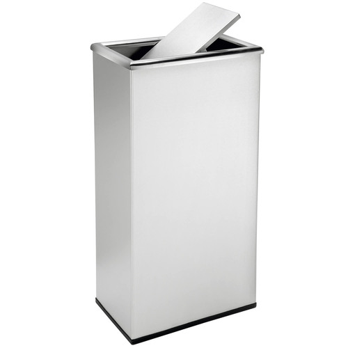 13 Gallon Rectangular Swivel Lid Stainless Trash Can Precision Series 780829