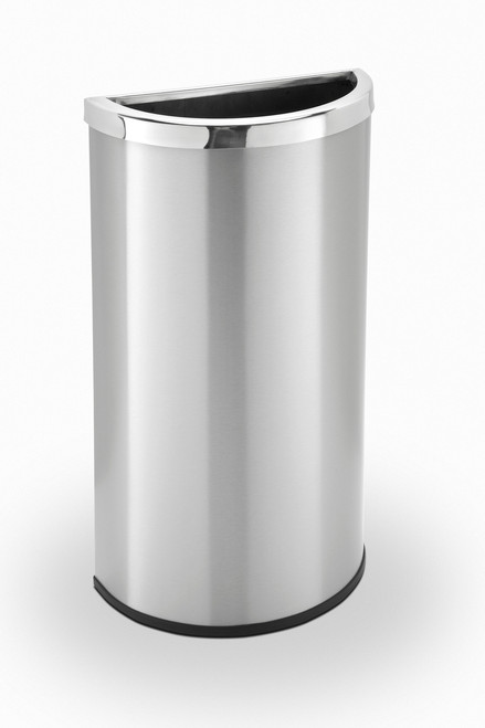 8 Gallon Half Round Stainless Steel Trash Can Precision Series 780929