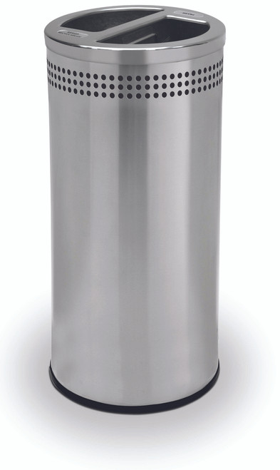 20 Gallon Stainless Steel Dual Recycling Can Precision Series 745829