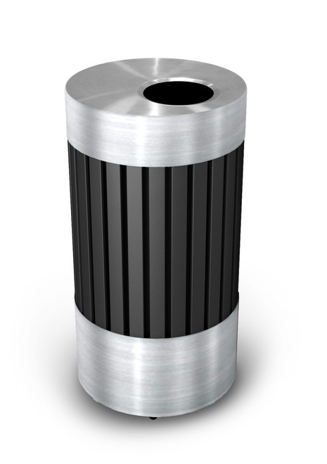 25 Gallon Riverview Stainless Steel Metal Indoor Outdoor Trash Can 727543