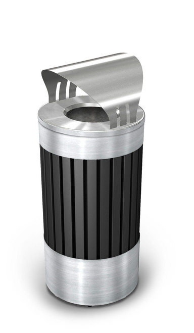 25 Gallon Riverview Steel Covered Outdoor Trash Can Commercial Zone 72774399