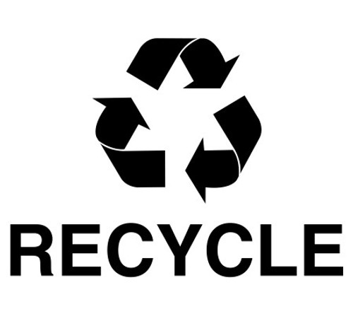 Recycle with Logo Black