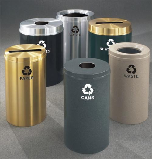 Glaro Metal Recycling Trash Can