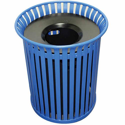 39 Gallon Flat Steel Outdoor Funnel Lid Waste Receptacle MF3201