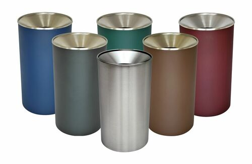 33 Gallon Heavy Duty Metal Indoor Trash Can WR-33F (6 Color Choices)