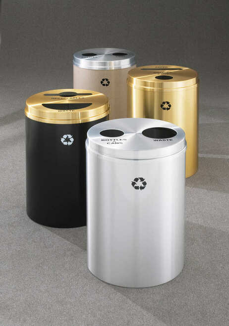 Glaro 2 in 1 Dual Purpose 33 Gallon Recycling Trash Can