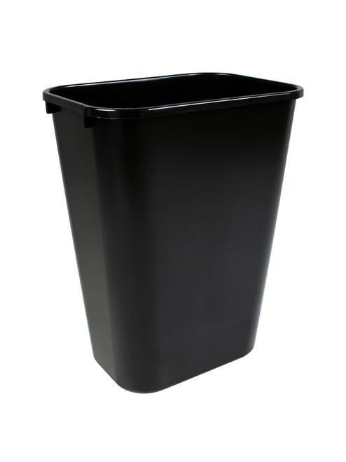 41 Quart Home or Office Plastic Wastebasket Black