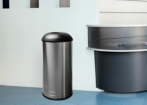 Stainless Steel CAFE Style Top Trash Can at the Office
