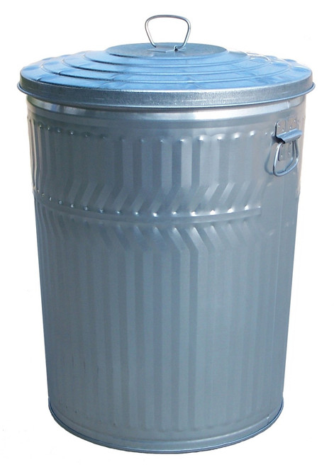 24 Gallon Heavy Duty Galvanized Trash Can with Lid WHD24CL