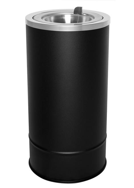 3 Gallon Pioneer Floor Urn Flip Top Ash Tray Black 160F BLX