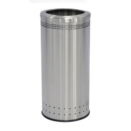 25 Gallon Stainless Steel Trash Can With or Without Lid Precision Series 781829