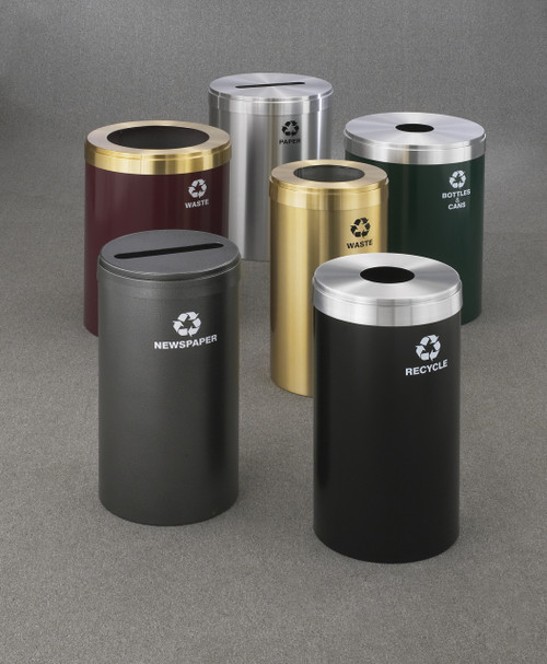 Group of Commercial Recycle Bins