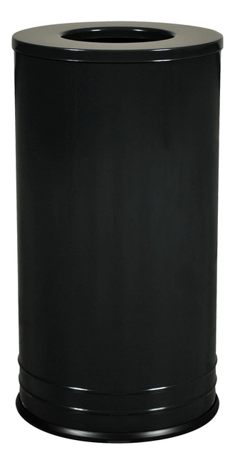 Excell INT1528 T-8 BLK DB Designer Trash Container Black Gloss