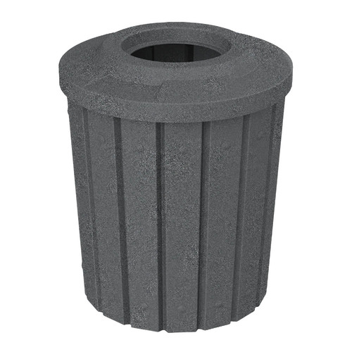 42 Gallon Kolor Can Heavy Duty Trash Receptacle S8281A DARK GRANITE
