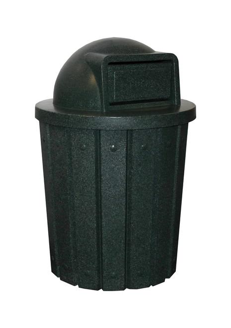 Kolor Can Signature 42 Gallon Heavy Duty Trash Receptacle with Push Door Lid GREEN GRANITE