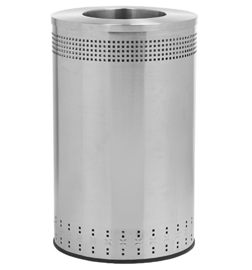 45 Gallon Precision Series Stainless Steel Trash Can Commercial Zone 782329
