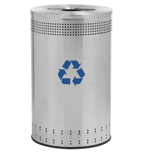 45 Gallon Precision Series Stainless Steel Recycling Trash Can 782729