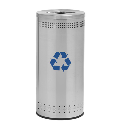 25 Gallon Precision Series Stainless Steel Recycling Trash Can 78182999