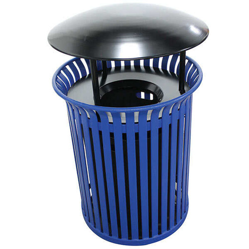 30 Gallon Steel Outdoor Covered Waste Receptacle MF3203
