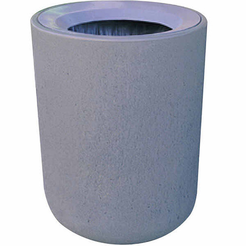 31 Gallon Concrete Funnel Top Outdoor Trash Container TF1082
